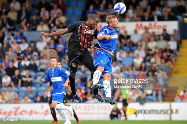 Pre Season Friendly, Stockport County v Manchester City, Edgeley Park, Manchester City's Nedum Onuoha in action against Stockport County