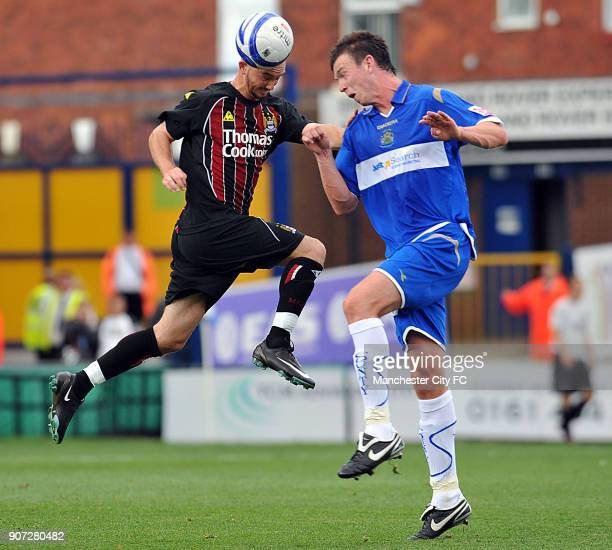 Pre Season Friendly, Stockport County v Manchester City, Edgeley Park, Manchester City's Stephen Ireland in action against Stockport County