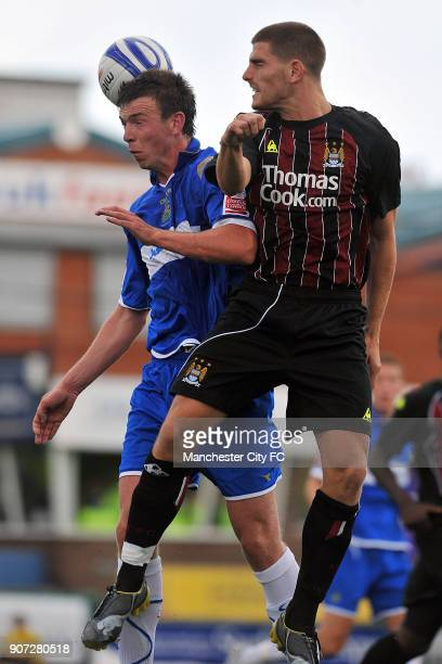 Pre Season Friendly, Stockport County v Manchester City, Edgeley Park, Manchester City' Ched Evans in action against Stockport County