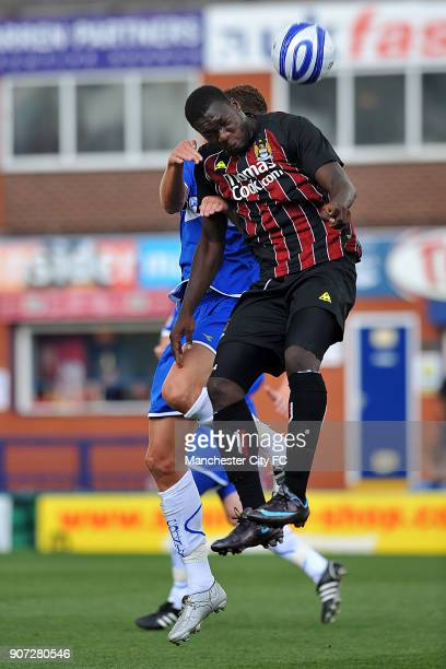 Pre Season Friendly, Stockport County v Manchester City, Edgeley Park, Manchester City's Felipe Caicedo in action against Stockport County