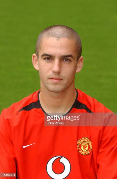 A pre season portrait of Paul Tierney of Manchester United