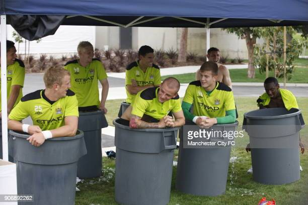 Pre Season Tour Manchester City USA Manchester City's Joe Hart Gareth Barry Vladimir Weiss James Milner and Shaun WrightPhillips take an ice bath...