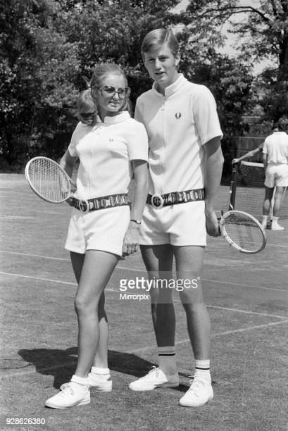 Pre Wimbledon at the Hurlingham Club Unisex fashions by Fred Perry 21st June 1970