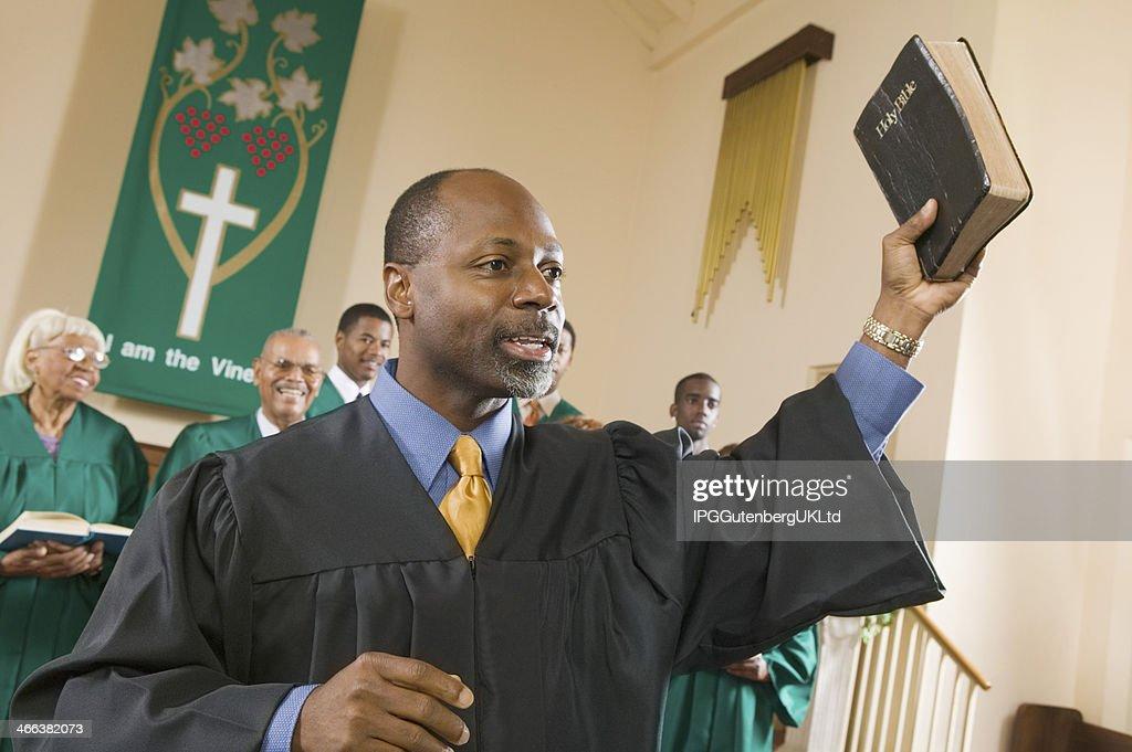 Preacher Preaching the Gospel : Stock Photo