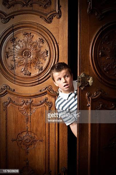 Pre-Adolescent Child peeping