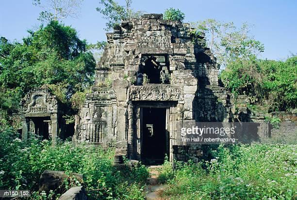 preah kahn, angkor, siem reap, cambodia, indochina, asia - kahn stock-fotos und bilder