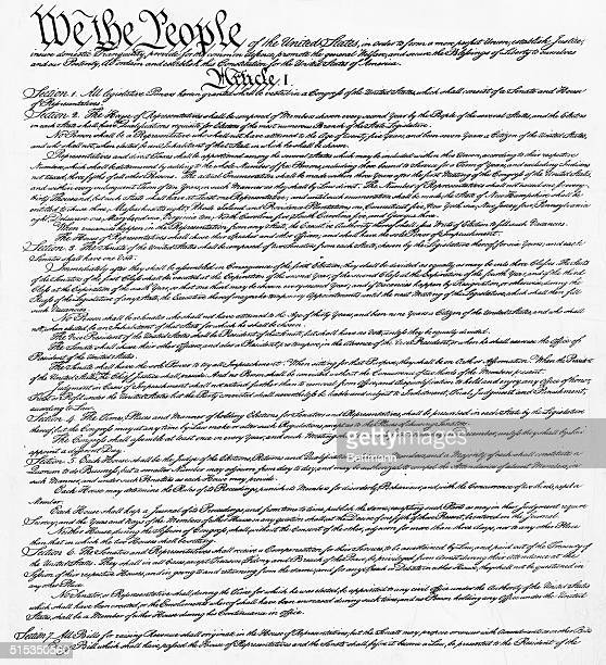 Preamble and Article I of the Constitution Undated