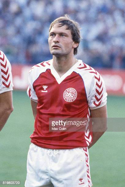Preben Elkjaer Larsen during the Football European Championship between Denmark and Belgium at Stade La Meinau Strasbourg France on 19 June 1984