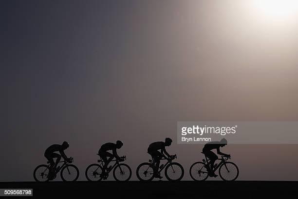 Preben Van Hecke of Topsport VlaanderenBaloise leads Patrick Gretsch of AG2RLa Mondiale Mark McNally of WantyGroupe Gobert and Jesper Asselman of...