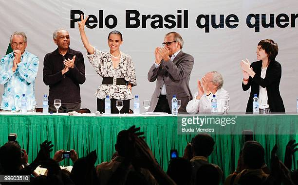 Pre-Candidate Marina Silva launches campaign for the 2010 Presidential Elections at Casa de Shows Rio Sampa on May 16, 2010 in Nova Iguacu, Brazil.
