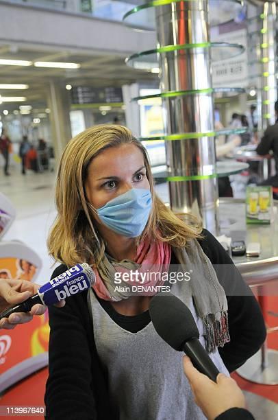 Precautions against swine flu virus at Nantes airport In Nantes France On May 01 2009Precautions against swine flu virus at Nantes airport une...