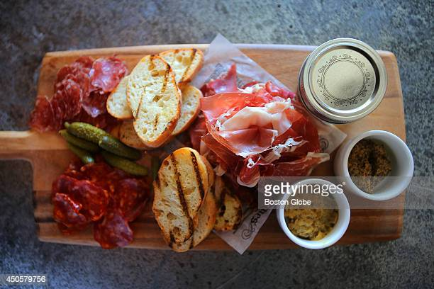 Precinct's charcuterie platter at the Loews Hotel in the Back Bay neighborhood