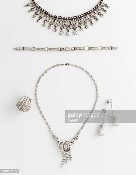 precious jewels - pearl necklace stock pictures, royalty-free photos & images
