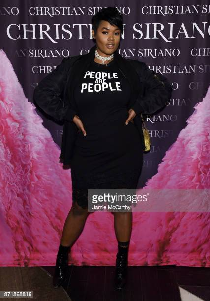 Precious Lee attends Christian Siriano celebrates the release of his book 'Dresses To Dream About' at the Rizzoli Flagship Store on November 8 2017...