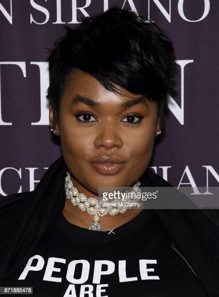 Precious Lee attends Christian Siriano celebrates the release of his book Dresses To Dream About at the Rizzoli Flagship Store on November 8 2017 in...