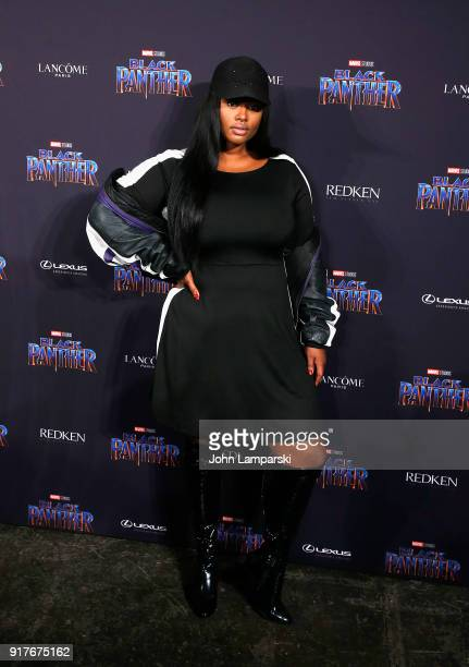Precious Lee attends Marvel Studios Presents Black Panther Welcome To Wakanda during February 2018 New York Fashion Week The Shows at Industria...