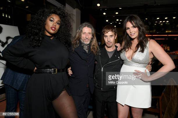 Precious Lee Julien d'Ys Steven Klein and Candice Huffine attends the CR Fashion Book Celebrating launch of CR Girls 2018 with Technogym at Spring...