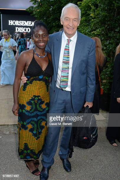 Precious Lunga and Jon Snow attend the annual summer party in partnership with Chanel at The Serpentine Pavilion on June 19 2018 in London England