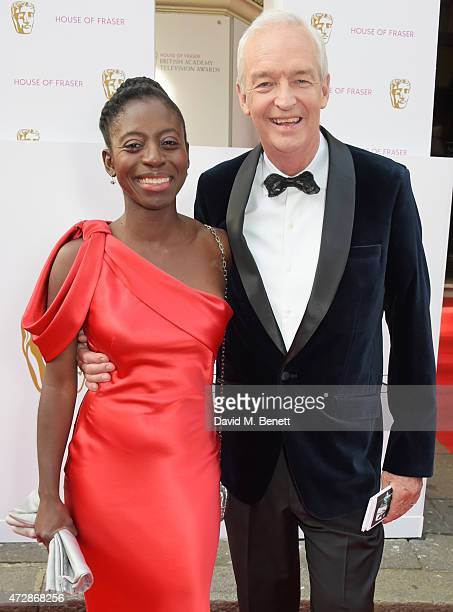 Precious Lunga and Jon Snow attend the House of Fraser British Academy Television Awards at Theatre Royal Drury Lane on May 10 2015 in London England