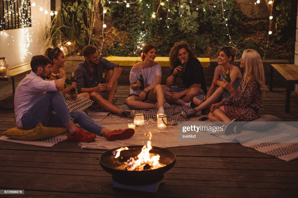 Precious moments with friends : Stock Photo