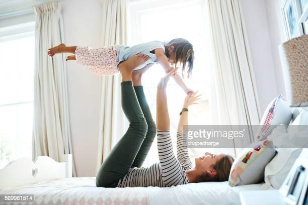 Precious mother daughter bonding time