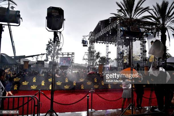 Precipitation falls during a storm at the 2017 MTV Movie And TV Awards at The Shrine Auditorium on May 7 2017 in Los Angeles California