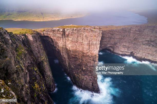 Precipitous   Lake Sørvágsvatn, Faroe Islands