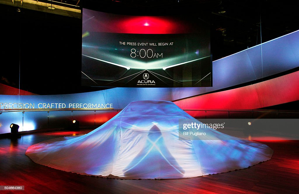 Precision Concept remains hidden prior to its reveal to the news media at the 2016 North American International Auto Show (NAIAS ) January 12, 2016 in Detroit, Michigan. The NAIAS runs from January 11th to January 24th and will feature over 750 vehicles and interactive displays.