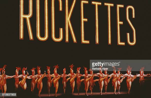 Precision dance company The Rockettes performing at Radio City Music Hall in New York City April 1984