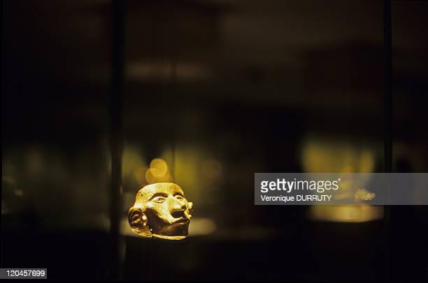 Precolombian Gold Statuette Museo de Oro in Bogota Colombia