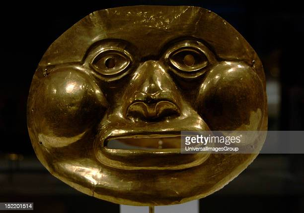 PreColumbian Art Colombia Calima culture Gold funerary mask 5thÐ1st century BCE Metropolitan Museum of Art New York United States