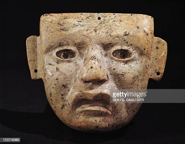 PreColumbian civilizations Mexico 3rd9th century AD Teotihuacan civilization Mask made from green stone From the Principal Temple of Teotihuacan
