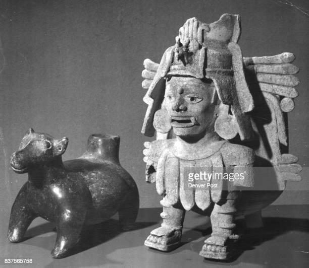 PreColumbian Tarascon Dog and Zapotecan Funeral Urn Credit Denver Post
