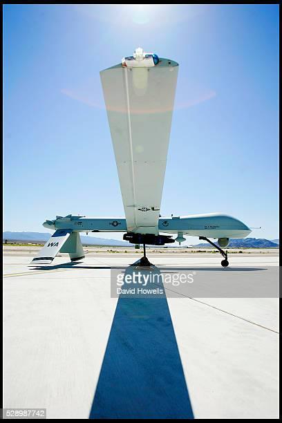A predator drone at Creech Air Force Base in Nevada