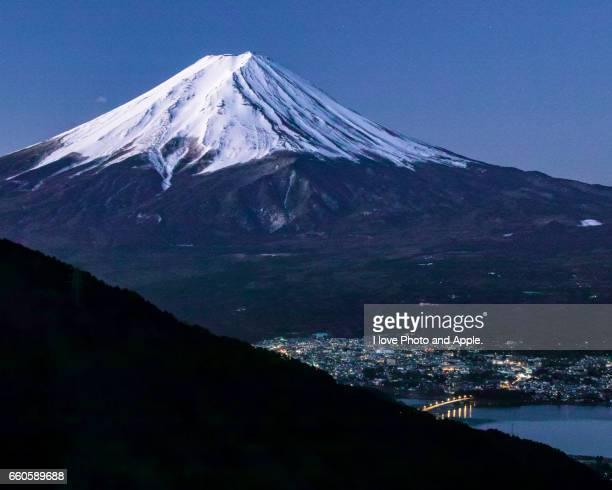 Predawn Fuji scenery