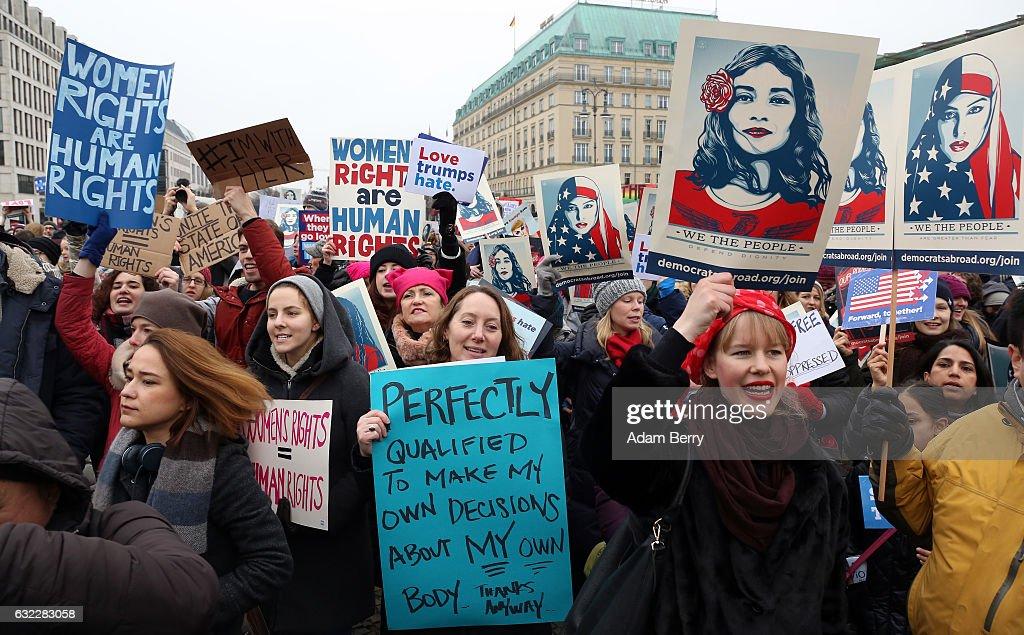 Women Demonstrate Against Trump Around the World : News Photo