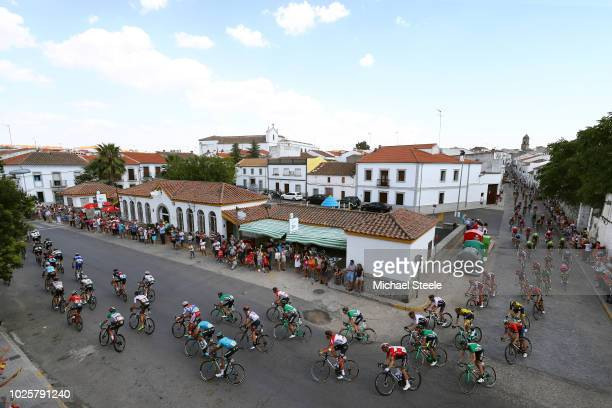 Predroche Village / Landscape / Peloton / Fans / Public / during the 73rd Tour of Spain 2018 / Stage 8 a 1951km stage from Linares to Almaden 550m /...