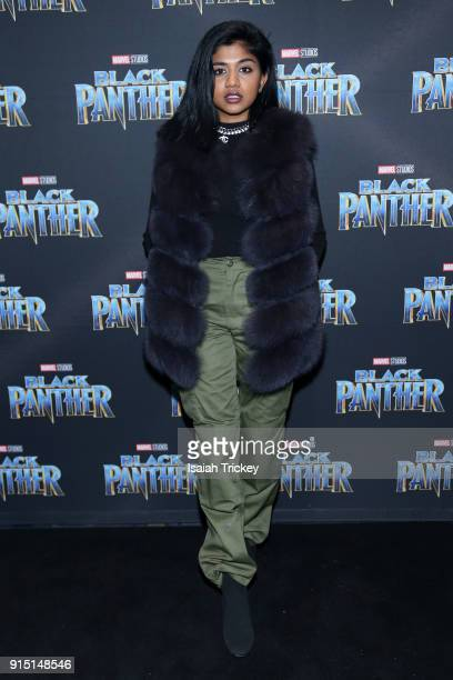Pree attends the Toronto Premiere of 'Black Panther' at Scotiabank Theatre on February 6 2018 in Toronto Canada