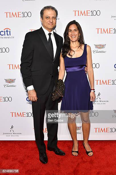 Preet Bharara and Dalya Bharara attend 2016 Time 100 Gala Time's Most Influential People In The World at Jazz At Lincoln Center at the Times Warner...