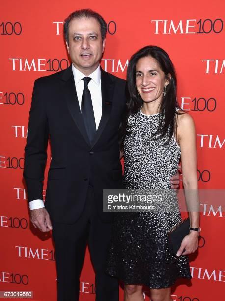 Preet Bharara and Dalya Bharara attend the 2017 Time 100 Gala at Jazz at Lincoln Center on April 25 2017 in New York City