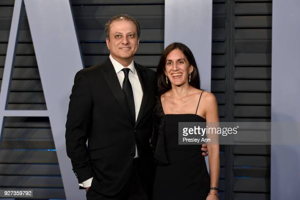 Preet Bharara and Dalya Bharara attends the 2018 Vanity Fair Oscar Party Hosted By Radhika Jones Arrivals at Wallis Annenberg Center for the...