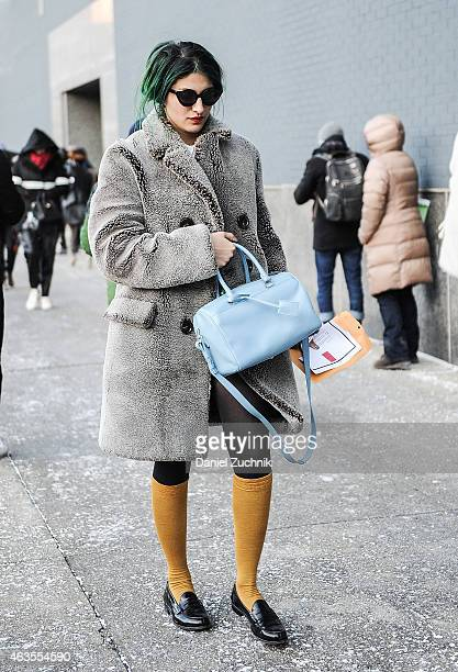 Preetma Singh is seen outside the DVF show on February 15 2015 in New York City