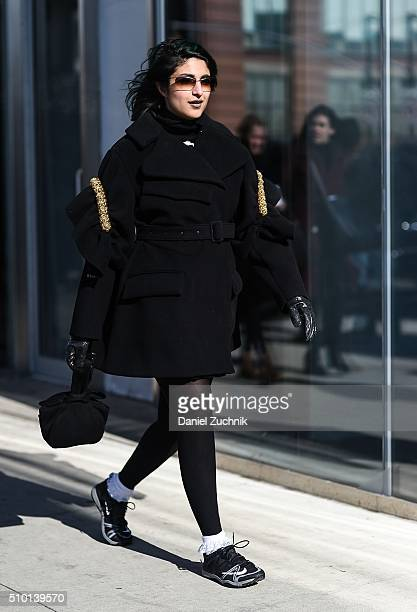 Preetma Singh is seen outside the Tibi show during New York Fashion Week Women's Fall/Winter 2016 on February 13 2016 in New York City