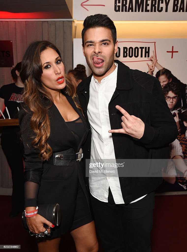 Preeya Kalidas and Jamal Andreas attend the press night performance of 'School Of Rock: The Musical' at The New London Theatre, Drury Lane, on November 14, 2016 in London, England.