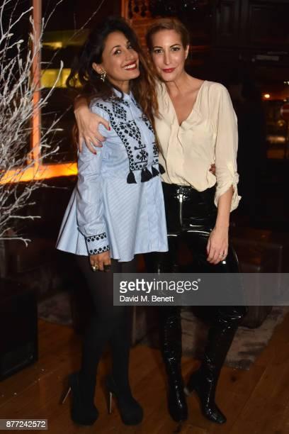 Preeya Kalidas and Laura Pradelska attend Mason Smillie's birthday party at McQueen on November 21 2017 in London England