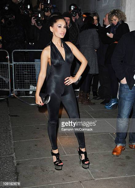 Preeya Kalidas arrives at Universal's BRIT Awards after party at The Savoy Hotel on February 15 2011 in London England