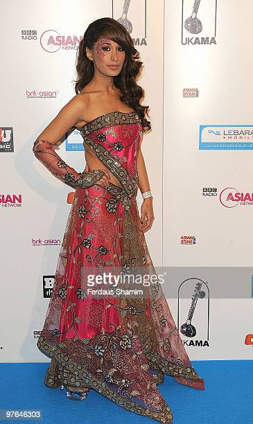 Preeya Kalidas attends the Lebara Mobile Asian Music Awards at the Royal Festival Hall on March 11 2010 in London England