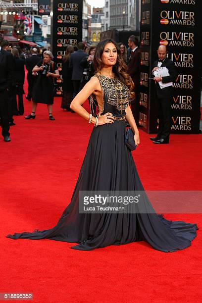Preeya Kalidas attends The Olivier Awards with Mastercard at The Royal Opera House on April 3 2016 in London England