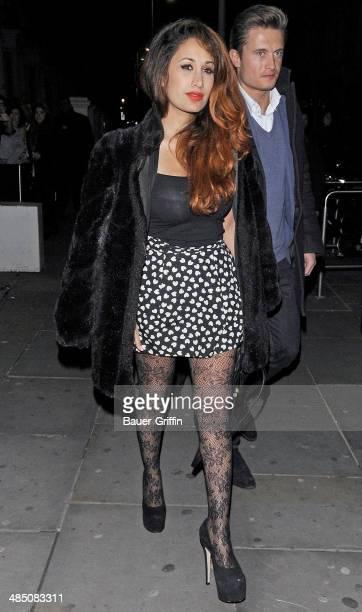 Preeya Kalidas is seen on February 15 2013 in London United Kingdom