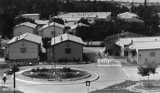 Prefabricated houses in the suburbs of Trieste Trieste September 1961